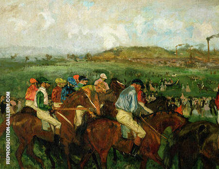 The Gentlemans Race Before the Start 1862 By Edgar Degas - Oil Paintings & Art Reproductions - Reproduction Gallery