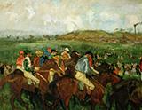 The Gentlemans Race Before the Start 1862 By Edgar Degas