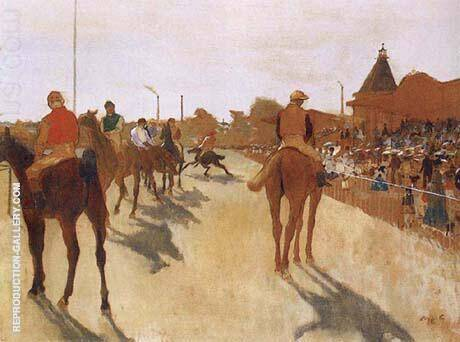 Racehorses Before The Stands 1866 By Edgar Degas - Oil Paintings & Art Reproductions - Reproduction Gallery