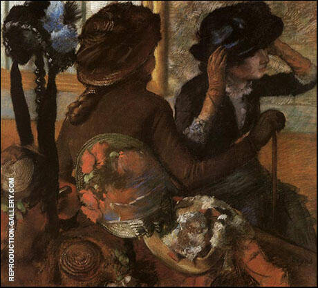 At the Milliners 1882 By Edgar Degas