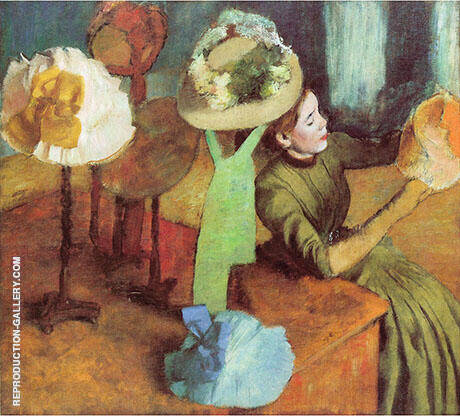 The Millinery Shop 1882 By Edgar Degas - Oil Paintings & Art Reproductions - Reproduction Gallery