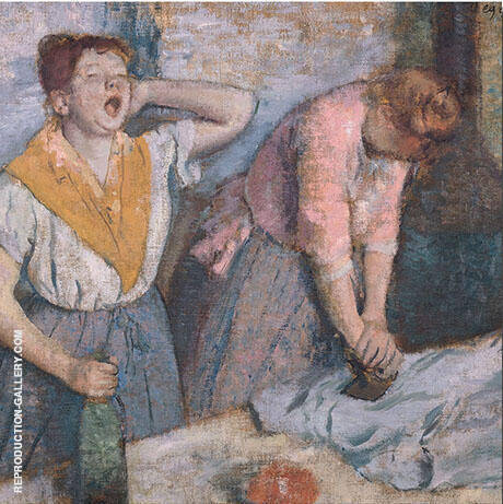 Ironing Woman The Laundresses 1884 By Edgar Degas - Oil Paintings & Art Reproductions - Reproduction Gallery
