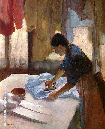 Woman Ironing 1887 By Edgar Degas