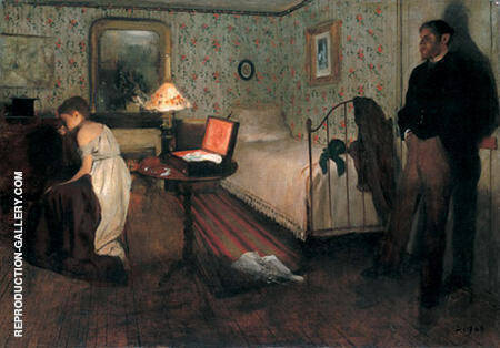 Interior or The Rape 1868 By Edgar Degas