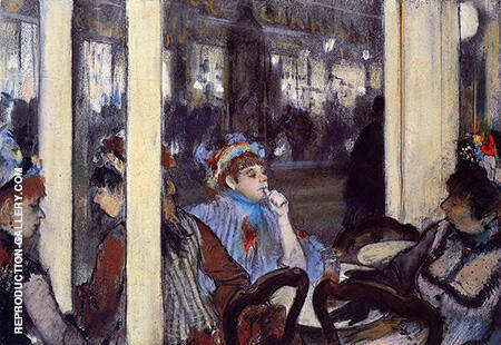Woman on the Terrace of a Cafe in the Evening 1877 By Edgar Degas