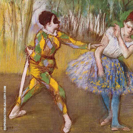 Harlequin and Colombina 1886 By Edgar Degas