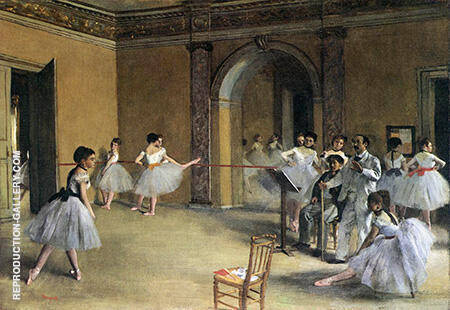 Dance Rehearsal at the Opera of the Rue Le Peletier By Edgar Degas