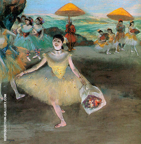 Ballerina with a Bouquet of Flowers 1877 By Edgar Degas