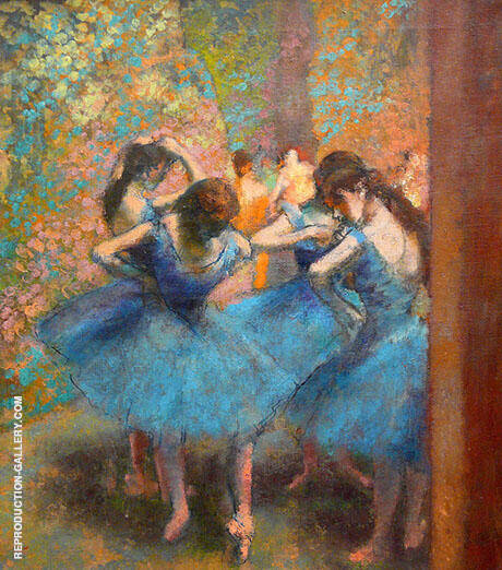 Blue Dancers 1890 By Edgar Degas - Oil Paintings & Art Reproductions - Reproduction Gallery