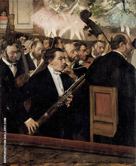 The Orchestra of the Opera 1870 By Edgar Degas Replica Paintings on Canvas - Reproduction Gallery