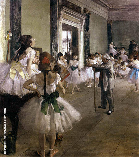 Dance Class 1875 By Edgar Degas Replica Paintings on Canvas - Reproduction Gallery