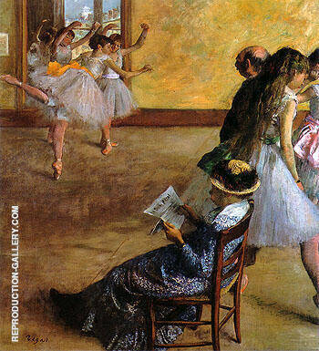 Reproduction of The Dance Lesson 1881 by Edgar Degas | Oil Painting Replica On CanvasReproduction Gallery