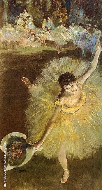 Dancer with Bouquet of Flowers By Edgar Degas