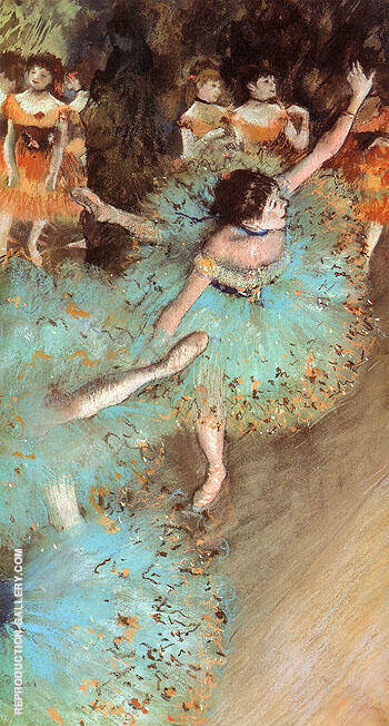The Green Dancer Dancers on the Stage 1880 By Edgar Degas