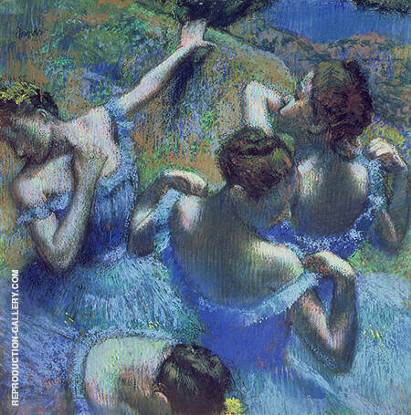 Reproduction of Four Ballerinas Behind the Stage 1898 by Edgar Degas | Oil Painting Replica On CanvasReproduction Gallery