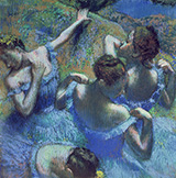 Four Ballerinas Behind the Stage 1898 By Edgar Degas