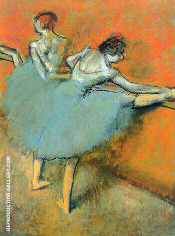 Dancers at the Barre 1900 By Edgar Degas - Oil Paintings & Art Reproductions - Reproduction Gallery