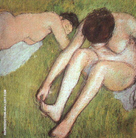 Two Bathers on the Grass 1896 By Edgar Degas