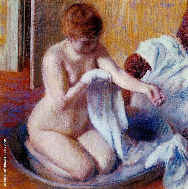 Woman in a Tub 1883 By Edgar Degas