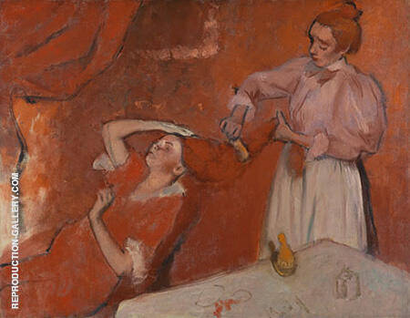 Combing the Hair La Coiffure By Edgar Degas