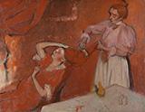 Combing the Hair La Coiffure By Edgar Degas