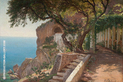 Reproduction of Pergola in Amalfi by Carl Frederic Aagaard | Oil Painting Replica On CanvasReproduction Gallery