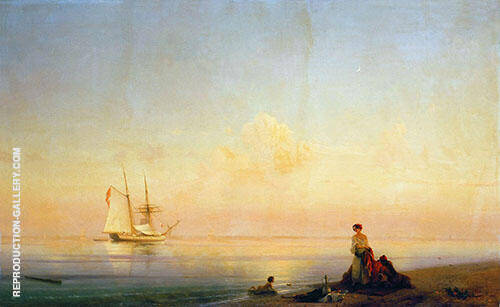 Seashore Calm 1843 Painting By Ivan Aivazovsky - Reproduction Gallery