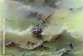 Storm 1854 By Ivan Aivazovsky