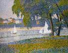 La Seine a Courbevoie La Grande Jatte By Charles Angrand