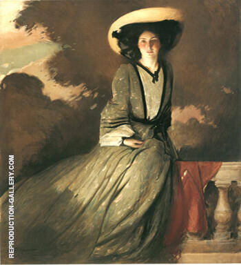 Reproduction of Portrait of Mrs John White Alexander 1856 by John White Alexander | Oil Painting Replica On CanvasReproduction Gallery