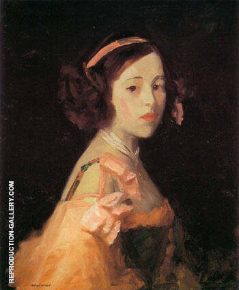 La Madrilenita 1910 By Robert Henri - Oil Paintings & Art Reproductions - Reproduction Gallery