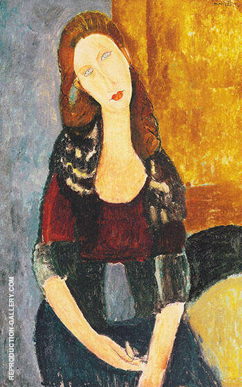 Jean Hebuterne Sitting 1918 By Amedeo Modigliani - Oil Paintings & Art Reproductions - Reproduction Gallery