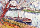 Barges on the Seine near Le Pecq 1906 By Maurice de Vlaminck