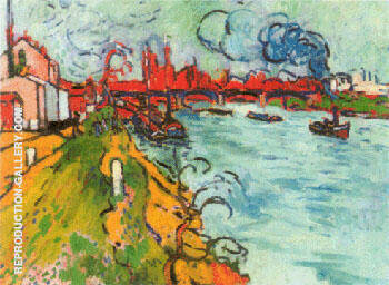 The Seine at Pecq 1905 By Andre Derain