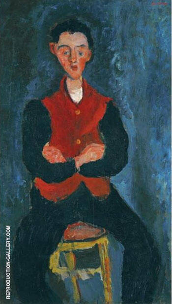 Reproduction of The Valet by Chaim Soutine | Oil Painting Replica On CanvasReproduction Gallery