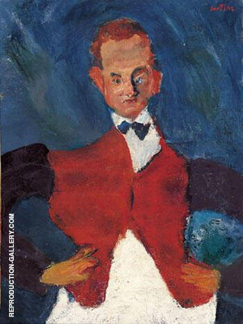 The Bellhop By Chaim Soutine - Oil Paintings & Art Reproductions - Reproduction Gallery