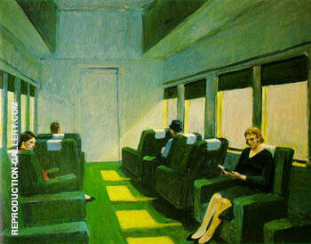 Chair Car 1956 Painting By Edward Hopper - Reproduction Gallery