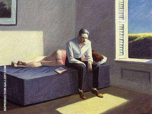 Reproduction of Excursion into Philosophy 1959 by Edward Hopper | Oil Painting Replica On CanvasReproduction Gallery