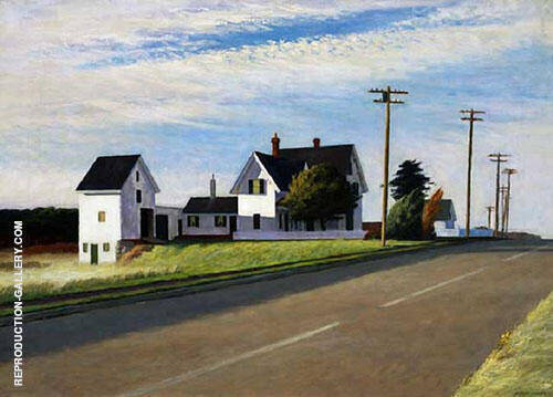 Route 6 Eastham 1941 By Edward Hopper