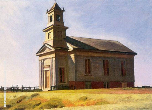 Reproduction of South Truro Church 1930 by Edward Hopper | Oil Painting Replica On CanvasReproduction Gallery