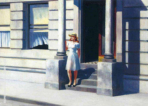 Reproduction of Summertime 1943 by Edward Hopper | Oil Painting Replica On CanvasReproduction Gallery