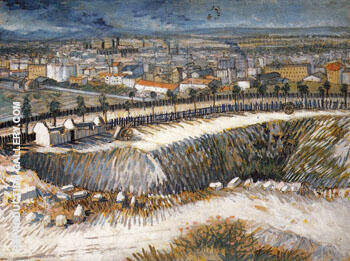Outskirts of Paris near Montmartre 1887 By Vincent van Gogh
