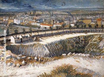 Outskirts of Paris near Montmartre 1887 By Vincent van Gogh