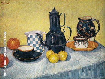 Still Life with Coffee Pot 1888 By Vincent van Gogh Replica Paintings on Canvas - Reproduction Gallery