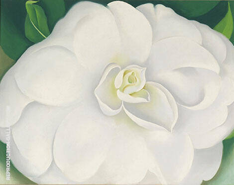 Reproduction of A White Camelia 1938 by Georgia O'Keeffe | Oil Painting Replica On CanvasReproduction Gallery