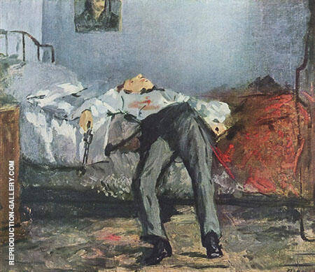 The Suicide c1877 Painting By Edouard Manet - Reproduction Gallery