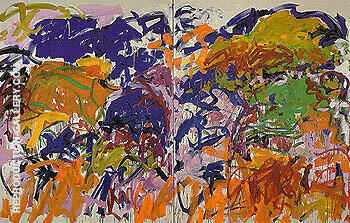 Ici 1992 By Joan Mitchell - Oil Paintings & Art Reproductions - Reproduction Gallery