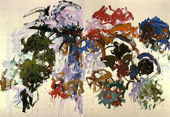 Reproduction of Sunflowers c1990 by Joan Mitchell | Oil Painting Replica On CanvasReproduction Gallery