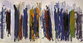 Trees c1990 By Joan Mitchell Replica Paintings on Canvas - Reproduction Gallery