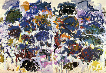 Reproduction of Sunflowers c1990 109 by Joan Mitchell | Oil Painting Replica On CanvasReproduction Gallery